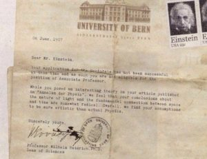 Einstein Rejection Letter