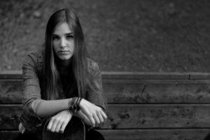 Grumpy teen